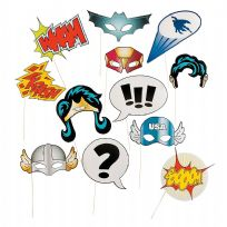 Super Hero Stick Costume Photo Props (12)